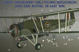 Fairey Swordfish Mk.I No.810 Sq. HMS Ark Royal