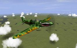 P-39D-2 Flying fire