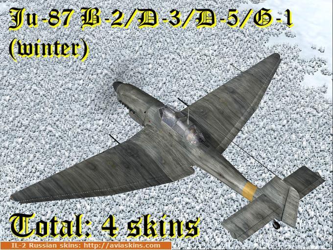 Winter skinpack Ju-87 (all type) blanc EQI EF